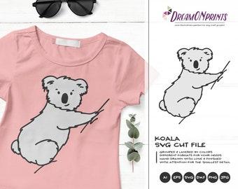 Koala Svg | Funny SVG | | Lazy SVG | Animals SVG