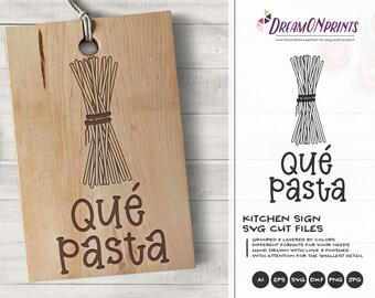 Pasta Svg, Kitchen Svg, Spaghetti Svg Food Pun Svg Kitchen Svg, Apron Svg Designs Cut File, Cooking svg Cricut Explore DOP357