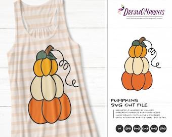 Halloween Pumpkin SVG Set | Cute Halloween Illustration