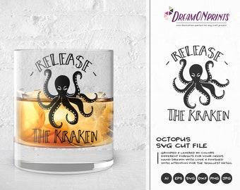 Octopus SVG   Release the Kraken SVG Cut Files