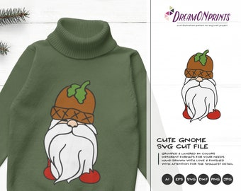 Pappa Gnome Christmas SVG   Christmas Family Design   Gnome  Cut Files