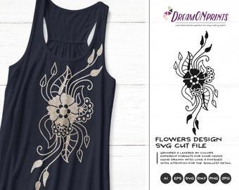 Flower SVG Cut Files| Flower Design | Floral SVG