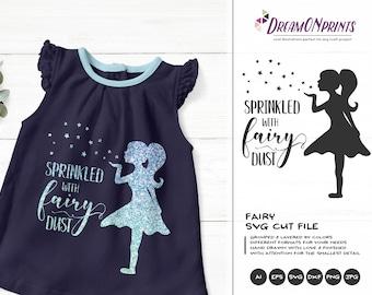 Fairy SVG Cut File, Sprinkled with Fairy Dust SVG, Fairy Cut File, SVG Stars Cutting File, Baby svg, Baby Girl svg Cricut Explore DOP164