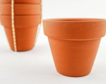 25 mini terracotta pots - plain terracotta pots - 6 cm small terracotta pot for DIY projects - wedding favour, baby shower, kids birthday
