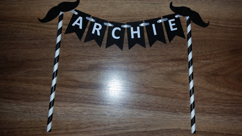 Mustache Birthday Party Custom Made Personalized Name Cake Bunting Smash Cake High Chair Photo Shoot Cake Table Birthday Decor