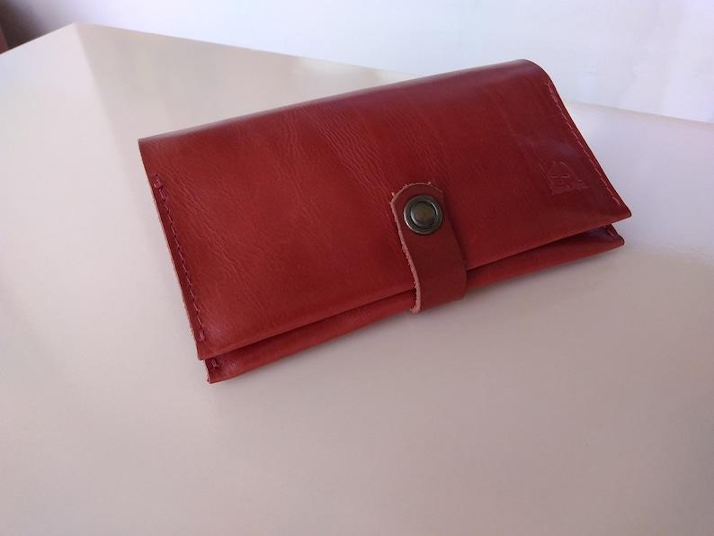 Leather tobacco pouch Leather Tobacco Pouch with Paper Dispenser Tobacco wallet