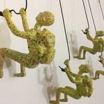 5 Piece Climbing Sculpture Wall Art Gift For Home Decor Interior Design Rock Climbing Man Contemporary Artwork MULTI-COLOR