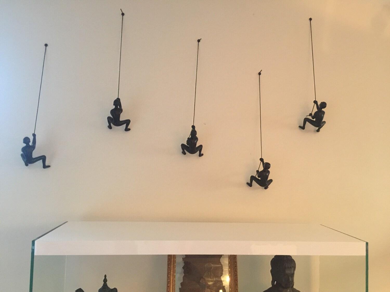 1 Piece Climbing Sculpture Wall Art Gift For Home Decor Interior ...
