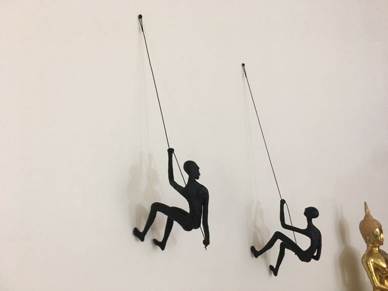 2 Piece Climbing Sculpture Wall Art Gift For Home Decor image 0