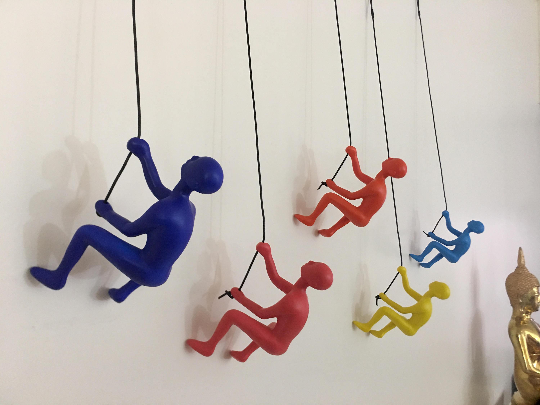 5 Piece Climbing Sculpture Wall Art Gift For Home Decor Interior ...