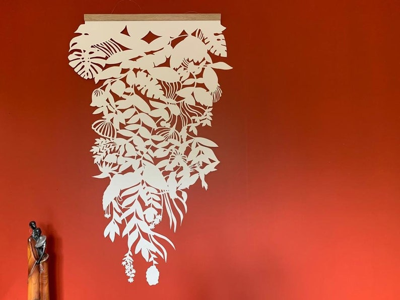 Wall hanging paper jungle pattern image 0