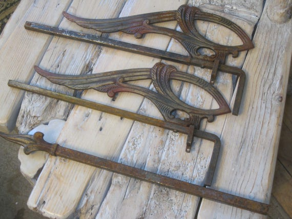 Victorian Antique Swing Arm Curtain, Antique Swing Out Curtain Rods