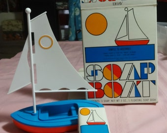 1970's Avon Floating Soap Boot Mint in Box. Box in Great Shape.