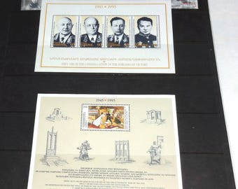 Lot-of-Armenian-World-War-II-Stamps-Souvenier-Sheets-Singles-1995