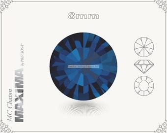 6 pc.+ SS39 (8mm) Preciosa MC Chaton MAXIMA - Montana Color