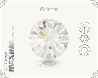 6 pc.+ SS39 (8mm) Preciosa MC Chaton MAXIMA - Crystal Argent Flare Color