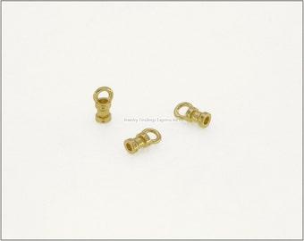 10 pc.+  1.5mm Crimp End Cap, Crimp Ends, Cord Ends for Leather Cords & Chains - Gold color