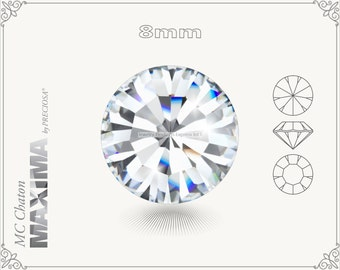 6 pc.+ SS39 (8mm) Preciosa MC Chaton MAXIMA - Crystal Color