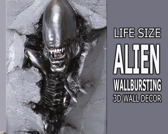 Alien vs PredatorAlien Wall ArtWall HangingLife size Movie Art