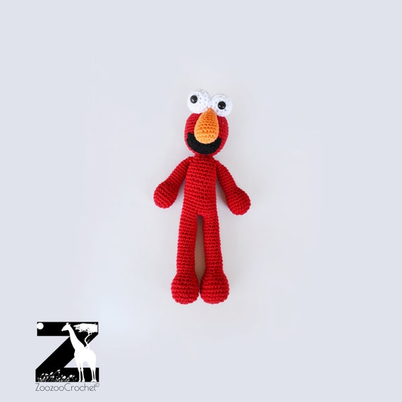 Free Crochet Pattern : Elmo | Gratis haakpatroon, Gehaakte ... | 570x570