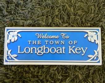 Welcome to Longboat Key Sign - Photo on Wood