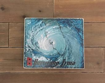 Hurricane Irma sign - Photo on Wood