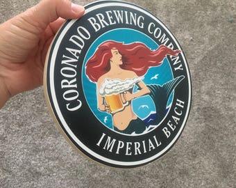 Coronado Brewing Company Sign - Photo on Wood