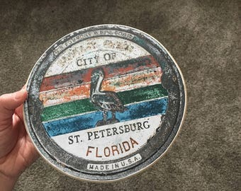 City of St. Petersburg Sign - Photo on Wood