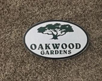 Oakwood Gardens Custom  - photo on wood