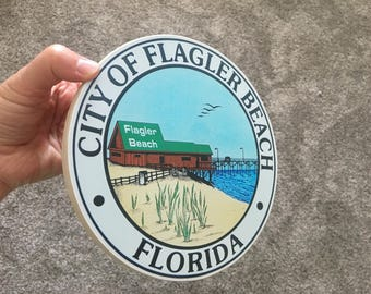 City of Flagler Sign - Photo on Wood
