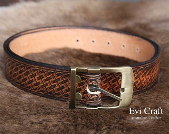 """Personalized leather belt 26-40"""" size, Gift for men, plus size belt, monogram, wedding anniversary gift, groom gift, Valentine's Day"""
