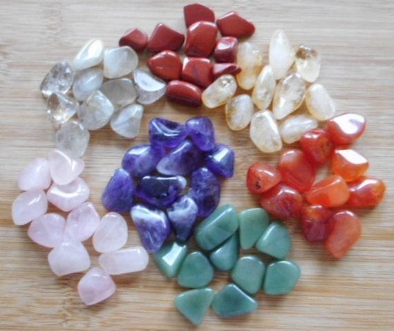 Amethyst Tumblestones  10 Amethyst Crystals 12mm to 16mm Grids
