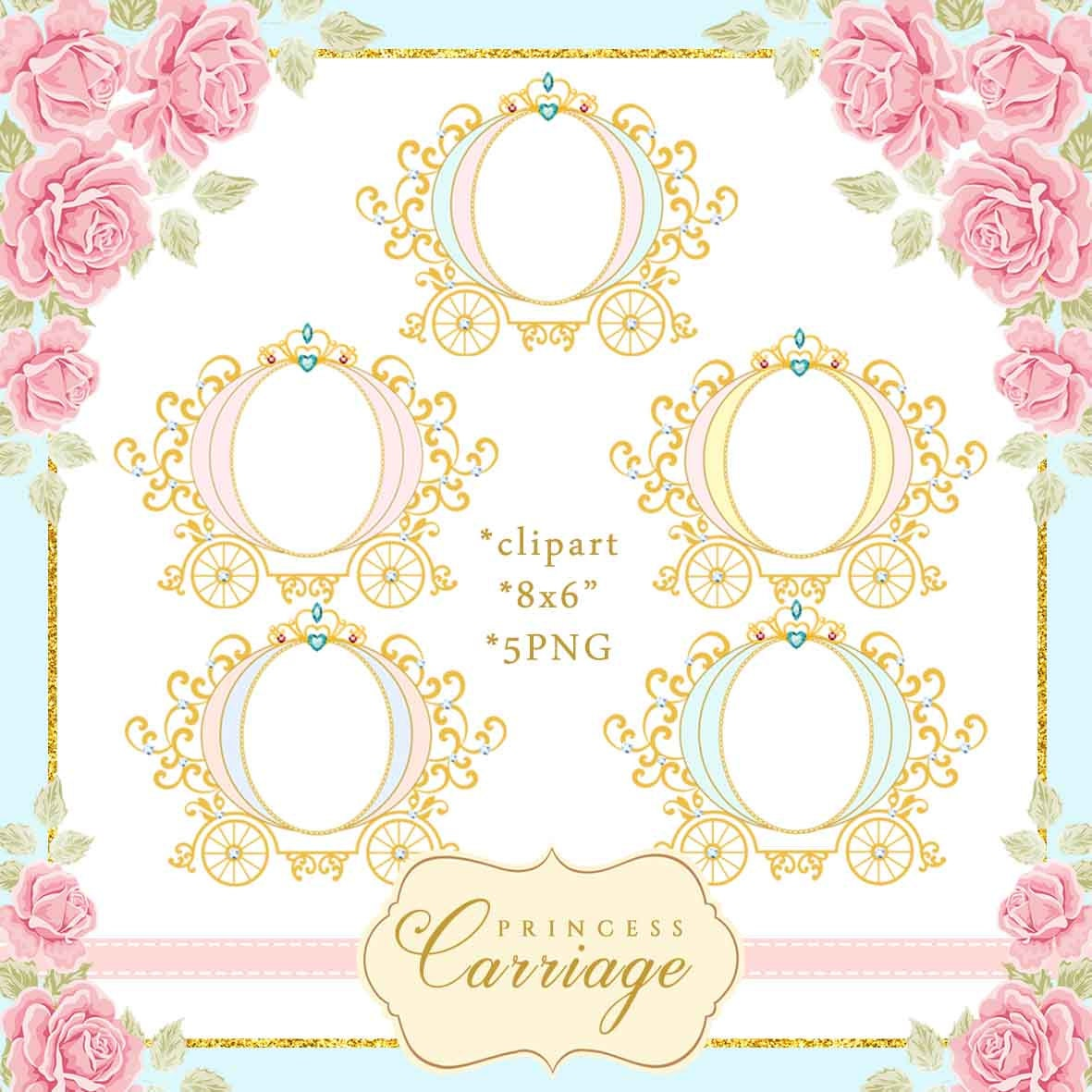 Princess Carriage Clipart frame Vintage Carriage | Etsy
