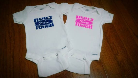 6f17958f0 Built ford tough baby onesie toddler tee girl boy etsy jpg 570x321 Ford  onesie
