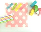 Baby pink dot Paper bags, Gift bags, packaging,20XDot Paper Snack Sweet Treats bags, party supplies, Cute packaging, pastel colours,baby