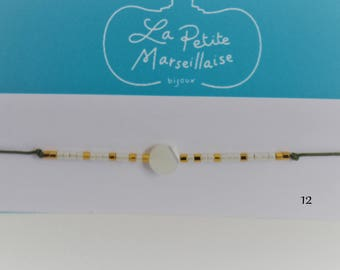 Pearls and miyuki message bracelet