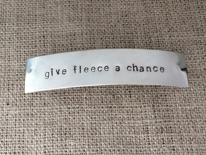 give fleece a chance barrette  sterling silver image 0