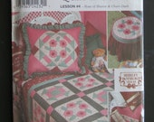 Craft Sewing Pattern Quilt Blocks, Rose of Sharon Churn Dash Simplicity 9312 One Size Uncut