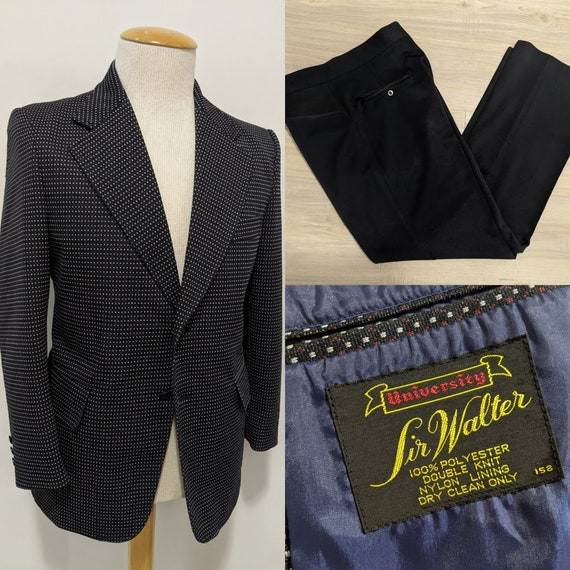 Vintage 1970's Men's Two-Piece Polka Dot Suit Men'