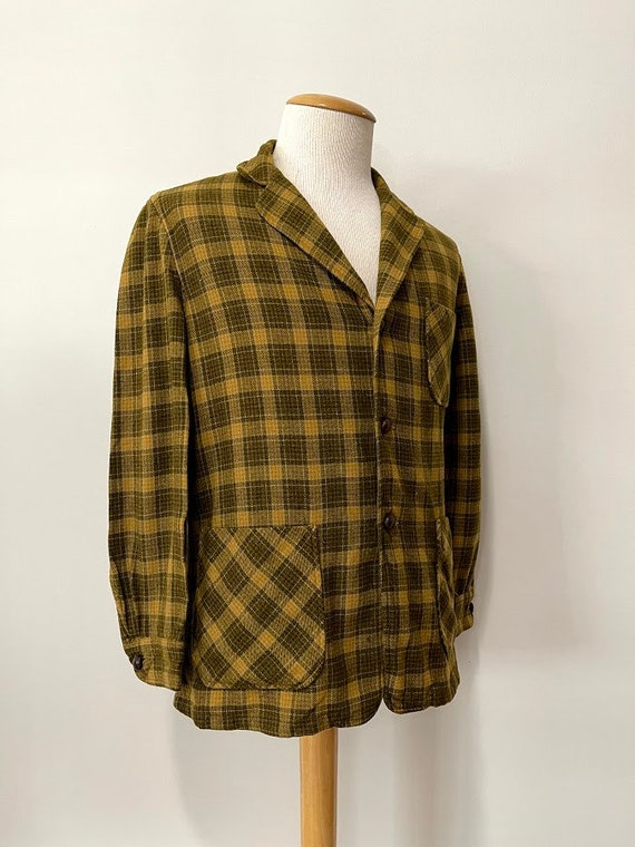 Vintage 1950's Men's Pendleton Wool Work Jacket Wo