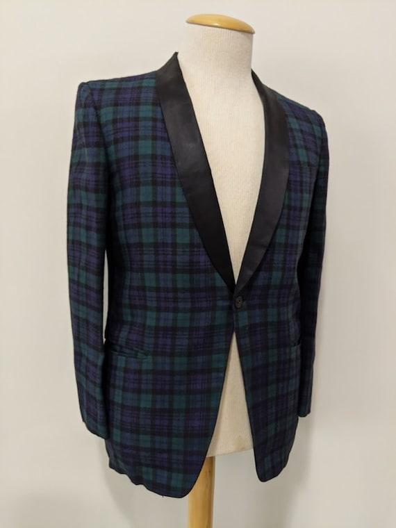 Vintage 1950's Men's Shawl Collar Tuxedo Jacket Bl