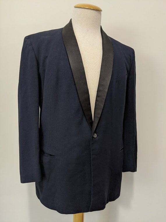 Vintage 1940's 40's Men's Shawl Collar Tuxedo Tuxe