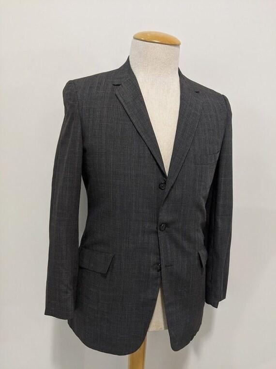 Vintage 1950's Men's Lightweight Wool Plaid Suit J