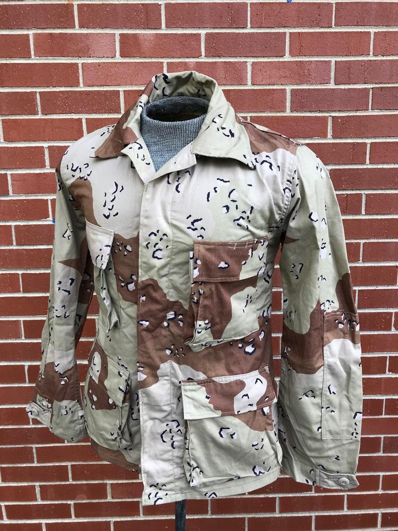0f8311af60c Original Vintage 1980s 80s Desert Camouflage Army Jacket BDU