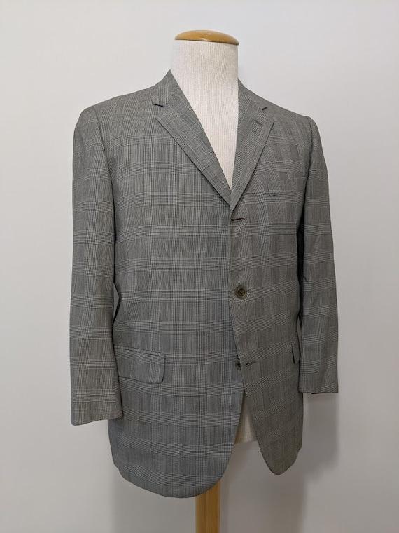 Vintage 1960's Men's Glen Plaid Suit Jacket Retro