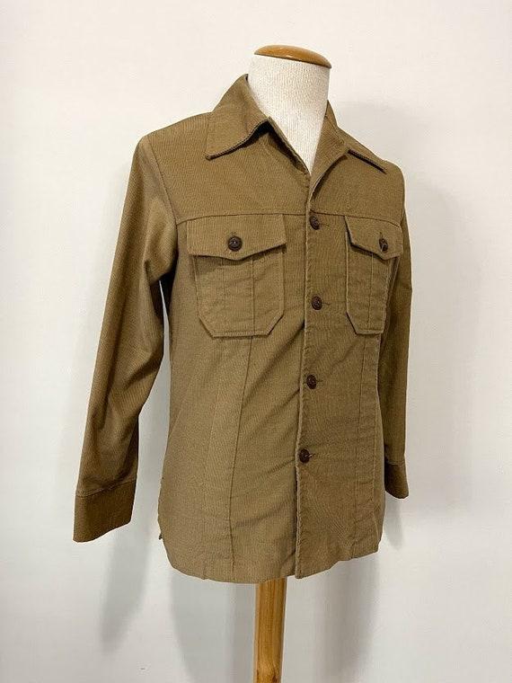 Vintage 1970's Men's Corduroy Leisure Suit Jacket