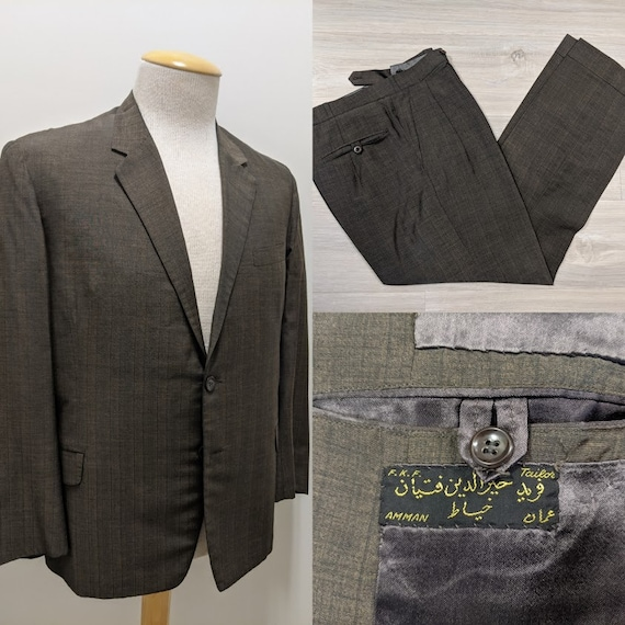 Vintage 1970's 70's Men's Two Piece Suit Jordanian