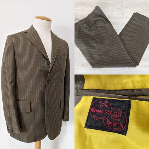 Vintage 1970's Men's Lightweight Pinstriped Two-Pi