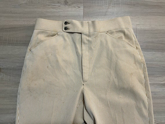 Vintage 1970's Men's Striped Trousers Striped Pan… - image 2