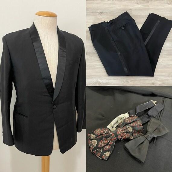Vintage 1950's Men's Tuxedo Suit 50's Suit 50's Tr